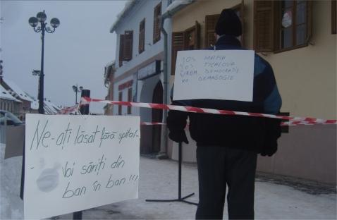 Protest pe m2