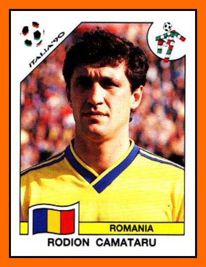 Rodion CAMATARU  Panini Roumanie 1990