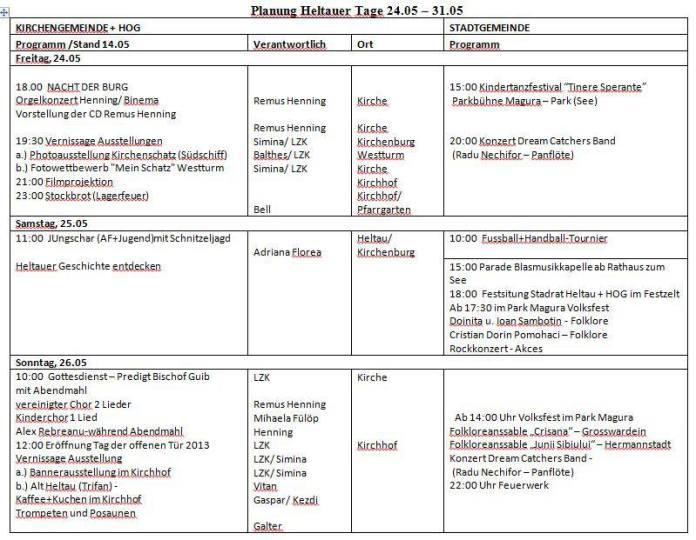 Programm Heltauer Tage Part 1