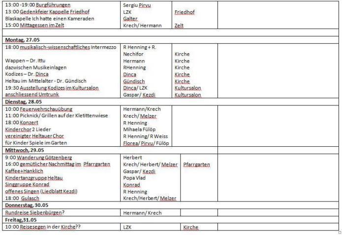 Programm Heltauer Tage Part 2