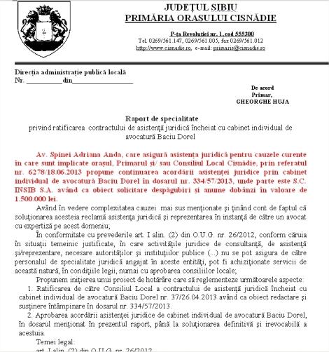 Contractul cu Baciu continua pe procesele cu Insib au aparut inca 1,5 milioane