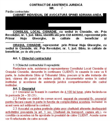 Contractul pagubos cu Spinei