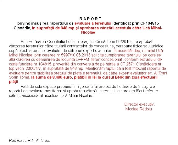 Teren de 848 mp pentru UCA la 8000 EURO