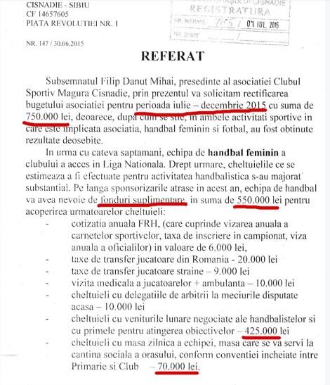rectificare de sute de mii de eur pentru handbalizde