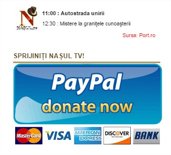 Sprijiniti Nasul TV donate now