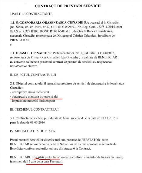 Termenii contractului